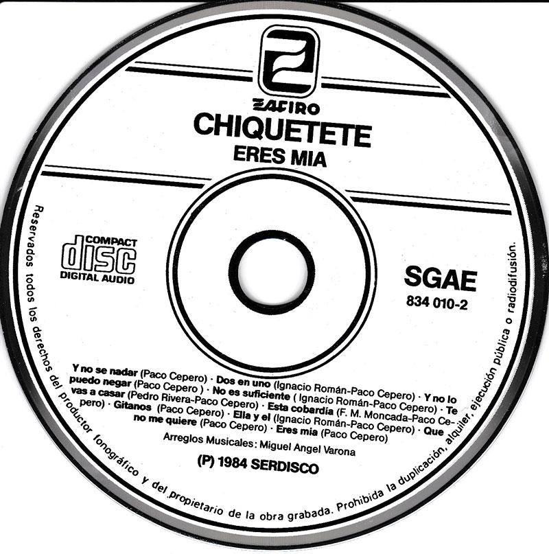 3-CD original Esta Cobardía. Año 1984. Créditos.