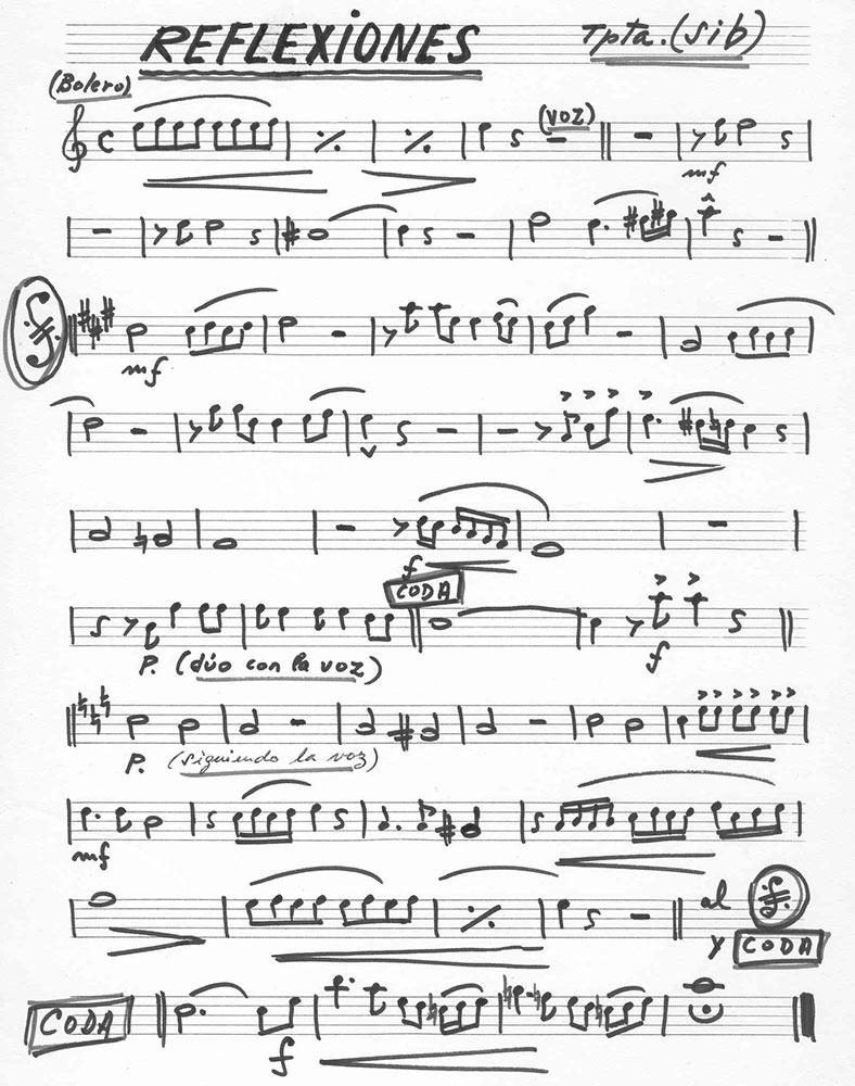 8-Partitura: REFLEXIONES (Trompeta)