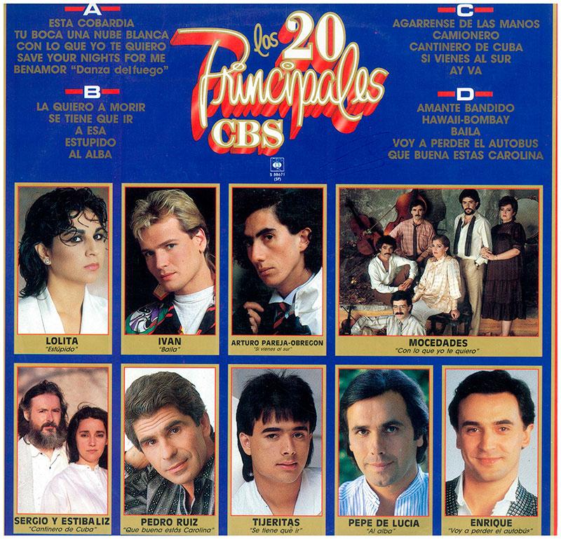 12-Los 20 Principales de CBS contraportada.