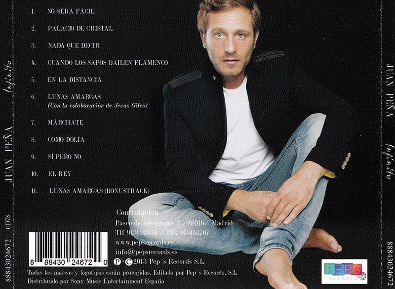 15-Juan Peña trasera del CD que incluye Sí, pero no